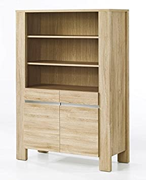 Ideal Large Open Display Cabinet/Bookcase   Light Oak