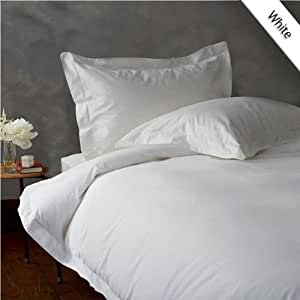 600tc 100 combed cotton 1pc duvet cover white solid zipper closure oversized queen. Black Bedroom Furniture Sets. Home Design Ideas