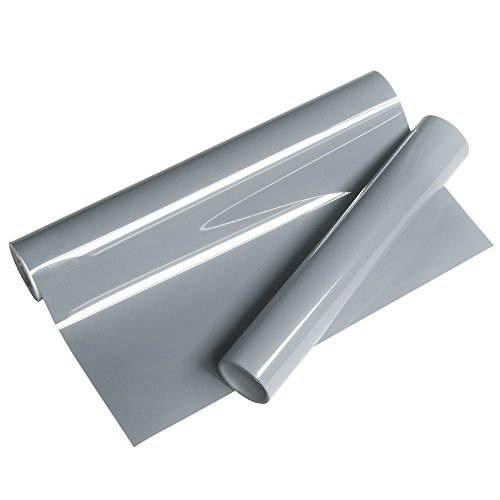 VINYL FROG Premium Grey Iron on Heat Transfer Vinyl Roll 10x5ft for Garments and Tshirt