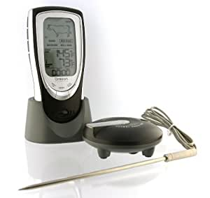 Oregon Scientific AW131 Grill Right Wireless Talking Oven/Barbeque Thermometer, Black Garden, Lawn, Supply, Maintenance