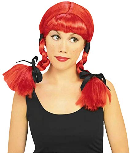 Rubie's suntry Girl Wig, Red, One Size]()