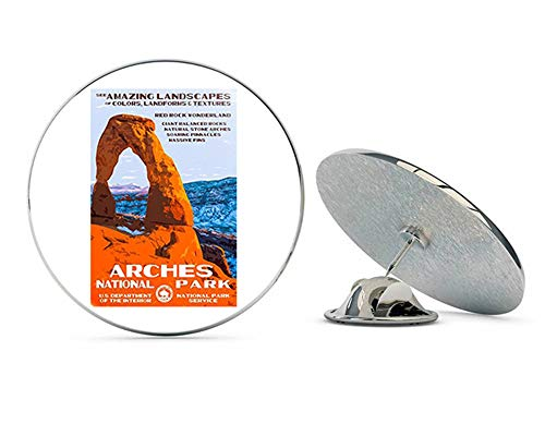 NYC Jewelers Arches Poster Art (rv National Park Hike) Metal 0.75