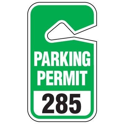 PARKING PERMIT/BLUE/#451-500Black/Blue on White 451-500