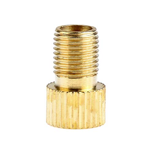 tlongtea65 2Pcs Car Bicycle Motorcycle Brass Adaptors Presta to Schrader Tube Valve Tool Dust Caps for Car, Motorbike, Trucks, Bike and Bicycle