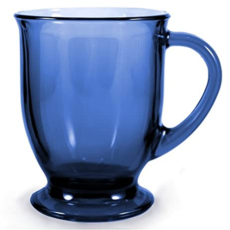 Amazoncom Anchor Hocking Cafe Oversized Coffee Mug Denim Blue