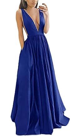 8635f4fea HaiDean Vestidos De Noche Largos Elegante Fiesta Vestidos De Verano Modernas  Casual Vestido Coctel Sin Mangas