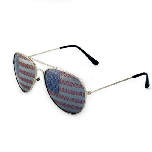 American Flag Aviator Sunglasses Glasses