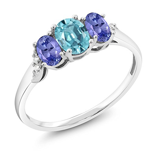 Genuine Blue Zircon Ring - 7