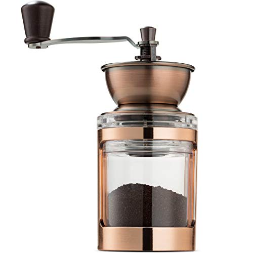 Check Out This MITBAK Manual Coffee Grinder With Adjustable Settings| Sleek Hand Coffee Bean Burr Mi...