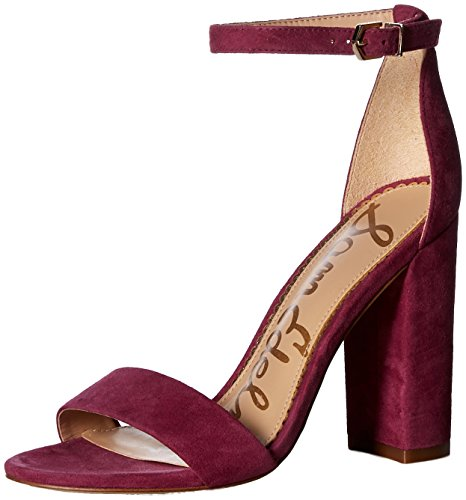 Small Mulberry - Sam Edelman Women's Yaro Heeled Sandal, Mulberry Pink, 7 M US