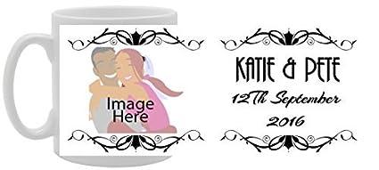 9b432eb7e Amazon.com  Your Image Text Wedding Classic Frames Wedding Gift ...
