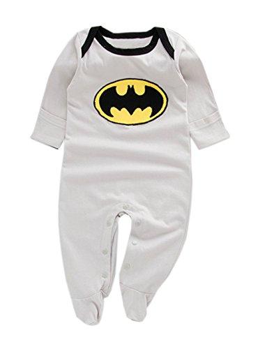 [StylesILove Super Hero Long Sleeve Baby Boy Costume Jumpsuit (18-24 Months, Batman Grey)] (18 Month Superhero Costumes)