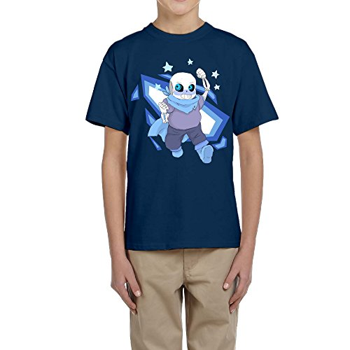 PTCY Design Boy's Tee San Under Tale Role-playing Video Game Navy Size - Entourage Barbara