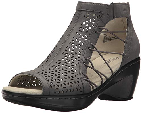 - JBU Women's Nelly Wedge Sandal, Grey, 9 M US