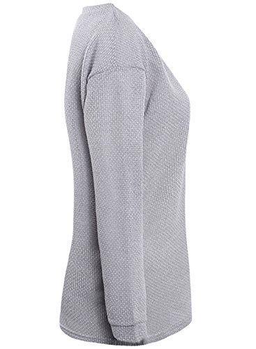 ACHICGIRL - Sudadera - relaxed - Manga Larga - para mujer gris claro