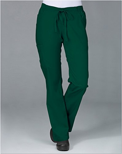 Blossom By Maevn Women's Straight Leg Cargo Scrub Pant Large Petite - Hunter Uniform