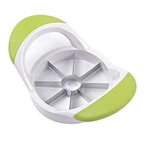 Keywin Apple Slicer, Cutter, Wedge, Corer and Divider -Easy Grip Apple Corer Provides 8 Slices With Stainless Steel Blades (Green)