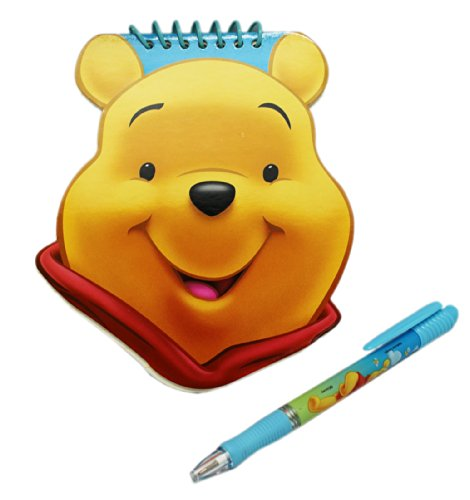 Pooh Notepad - Large Winnie the Pooh Head Shape Notepad with Pen
