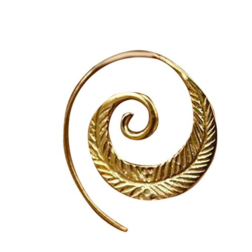 - Sunyastor Fashion Vintage Spiral Heart Screw Back Earrings Unique Earrings Jewelry Accessories Gifts (C, One Size)