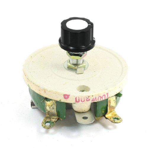 Uxcell a13122300ux0178 Single Turn Resistor 100W 300 Ohm Volume Control Ceramic Disk Rheostat