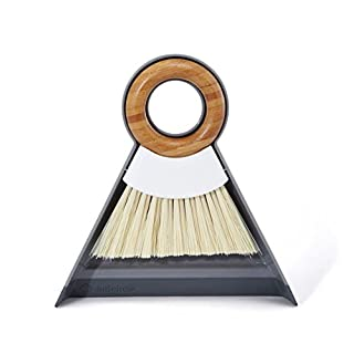 Full Circle and Brush Set, White Tiny Team Mini Dustpan