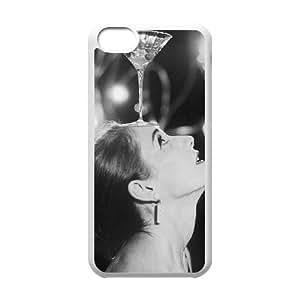 Audrey Hepburn iPhone 5c Cell Phone Case White WON6189218030291