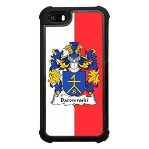 Barowroski Family Crest Polish Coat of Arms Click America Tuff Impact iPhone 5s Case