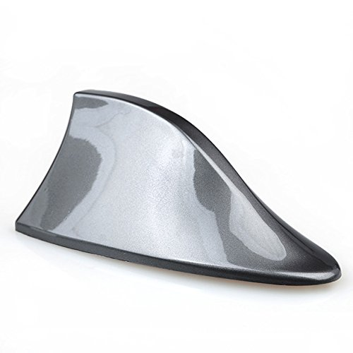 Universal Car Gray Shark Fin Style Roof Mount FM/AM Radio Signal Antenna Aerial