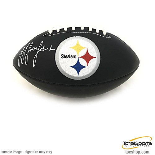 JuJu Smith-Schuster Signed Pittsburgh Steelers Black Matte Logo (Smith Signed Ball)