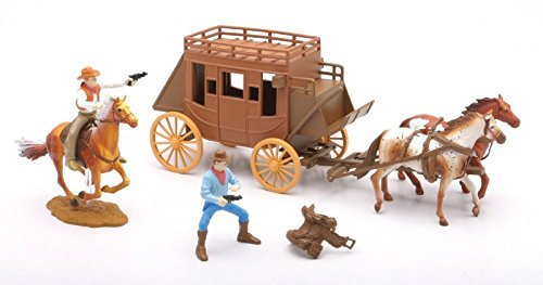 New Ray Big Country Western Stagecoach Playset