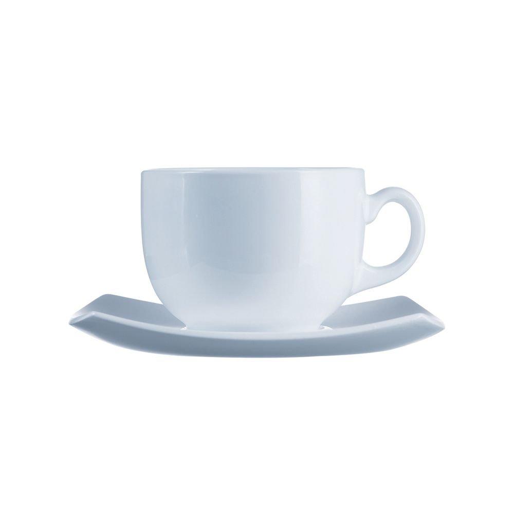 Arcoroc E8865 Delice White 7-1/4 Oz. Cup and Saucer - 24 / CS