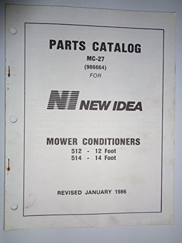 New Idea 512 and 514 Mower Conditioner Parts Manual Catalog MC-27