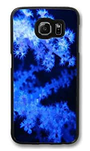 Blue phosphorescent corals Polycarbonate Hard Case Cover for Samsung S6/Samsung Galaxy S6 Black