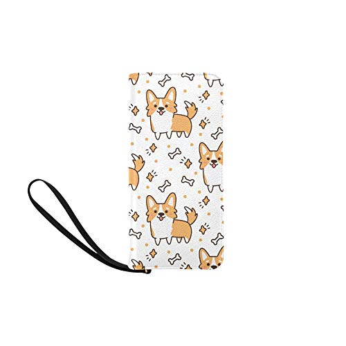 - InterestPrint Womens Wallets Breed Welsh Corgi Zippered Wristlet Strap Handle Clutch Purse Great Gift