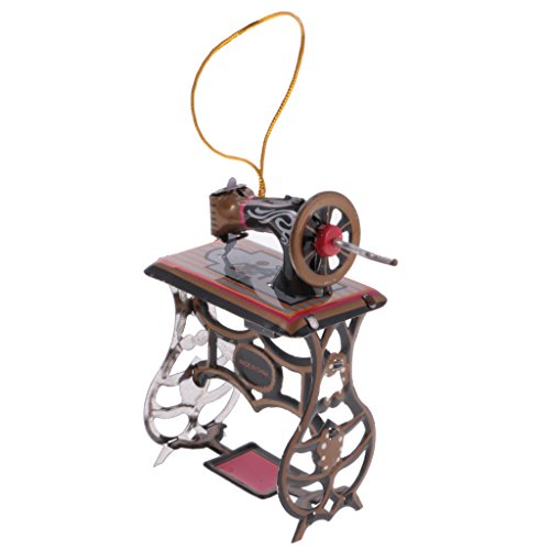 MagiDeal Mini Sewing Machine Model Tin Toy Collectible Gift Hanging Decor Ornaments