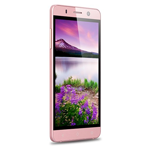 Landvo XM100 5,0'' 3G-Smartphone Android 5.1 Dual SIM 1G+8G Dual Kameras IPS Screen Quad Core 1.3GHz MT6580 Handy Ohne Vertrag Smart Wake GPS WIFI Bluetooth Rose Gold