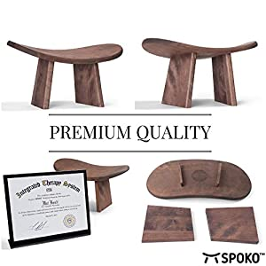 SPOKO Meditation Bench, Travel Version, The Original Posture Certified Wood Kneeling Stool, Best Ergonomic Wooden Chair, Perfect Low Seat for Meditations, Yoga, Prayer and Kids, no Cushion Needed