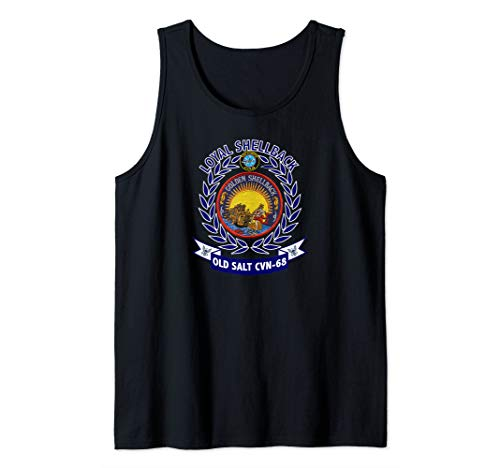 USS Nimitz CVN-68 Golden Shellback Logo Tank Top