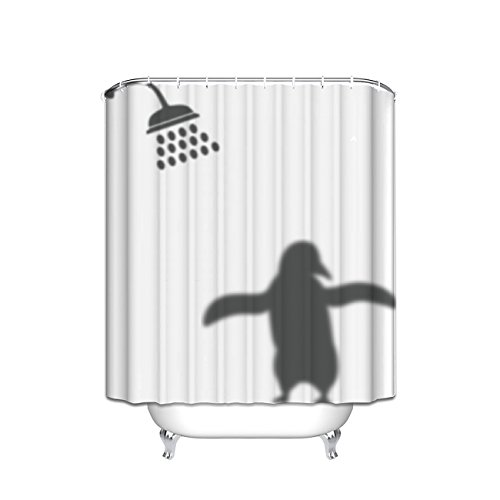 Prime Leader Shower Penguin Shadow Waterproof Bathroom Fabric Shower Curtain,72