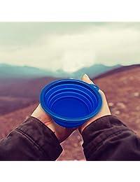 azcamp plegable camping Tazón, apto para uso alimentario de silicona y sin bpa, 2 unidades)
