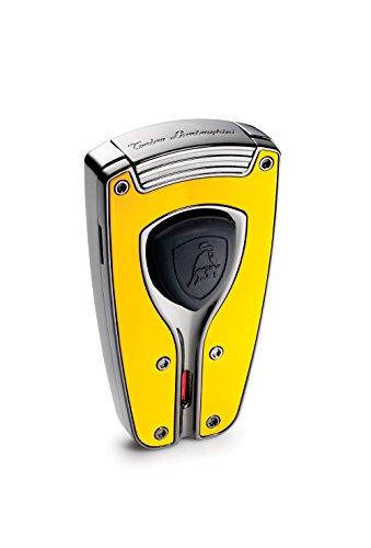 (Tonino Lamborghini Forza Yellow Lacquer Torch Flame Lighter)