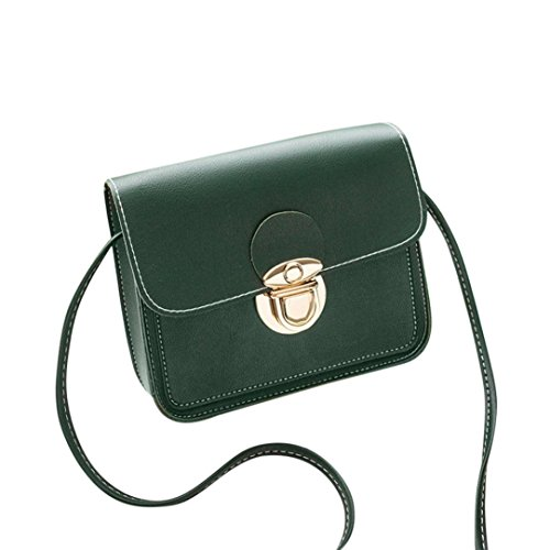 Janly? Shoulder Bag, Women Cover Crossbody Bag Ladies Handbags Small Clutch Purses Mini Flap bags (Pink) Green