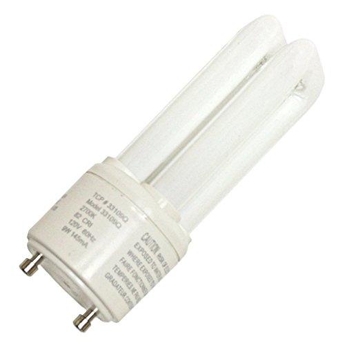 ((12-Pack) TCP 33109Q30K 9-Watt 3000K GU24 Base CFL PL Quad Tube, 45W Equivalent)