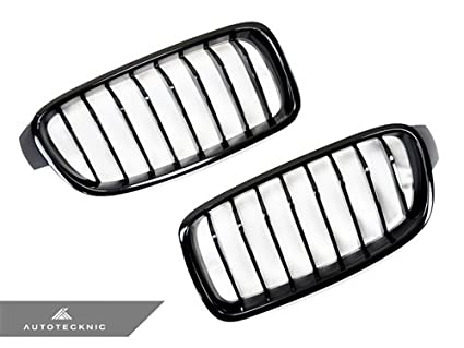 amazon autotecknic gloss black front grille f30 f31 3 series 2012 3 BMW 3 Series autotecknic gloss black front grille f30 f31 3 series sedan wagon