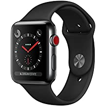 Apple Watch Series 3 Stainless Steel 42mm GPS + Cellular GSM unlocked (Space Black Stainless Steel Case with Black Sport Band) MQK92LL/A
