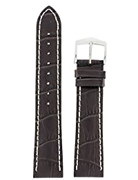 Hirsch Modena Brown Alligator Embossed Leather Watch Strap 103028-10-22