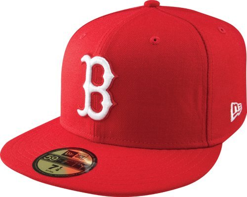 MLB Boston Red Sox Scarlet with White 59FIFTY Fitted Cap, 8