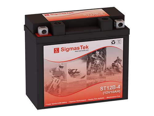 12 Volt 10 Amp Hour Sealed Lead Acid Battery Replacement with NB Terminals by SigmasTek ST12B-4