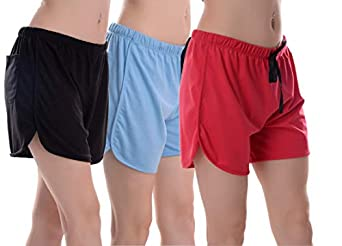 Elabana Women's Cotton Shorts Combo Pack of 3 (Multicolored)