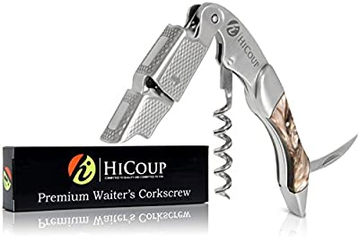 Waiters Corkscrew by HiCoup - Premium All-in-one Corkscrew, Bottle Opener and Foil Cutter